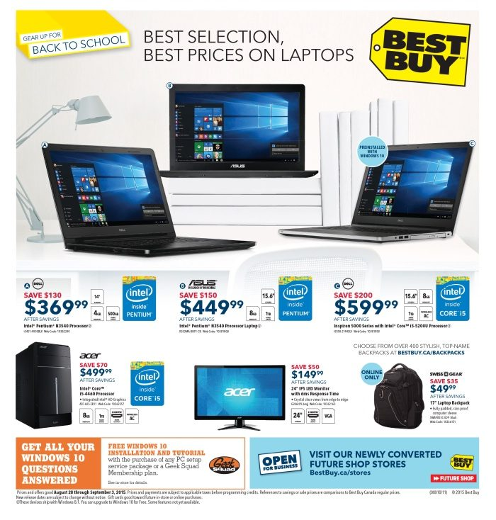 Best Buy Weekly Flyer - Weekly - Best Selection, Best Prices on Laptops -  Aug 28 – Sep 3 - RedFlagDeals.com