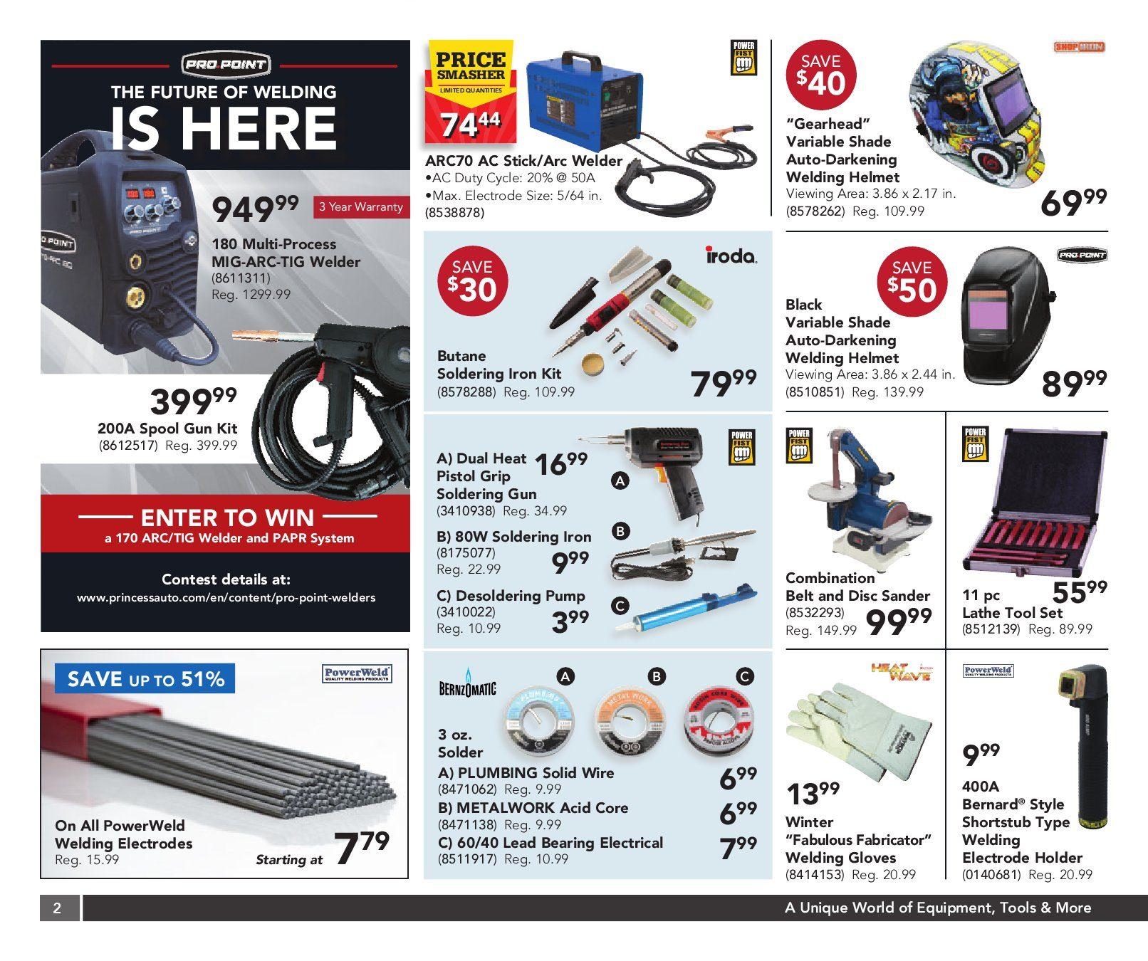 Princess Auto Weekly Flyer 2 Week Sale Gifts For Your Garage En Garbage Disposal Dishwasher Wiring On Welder Nov 3 15