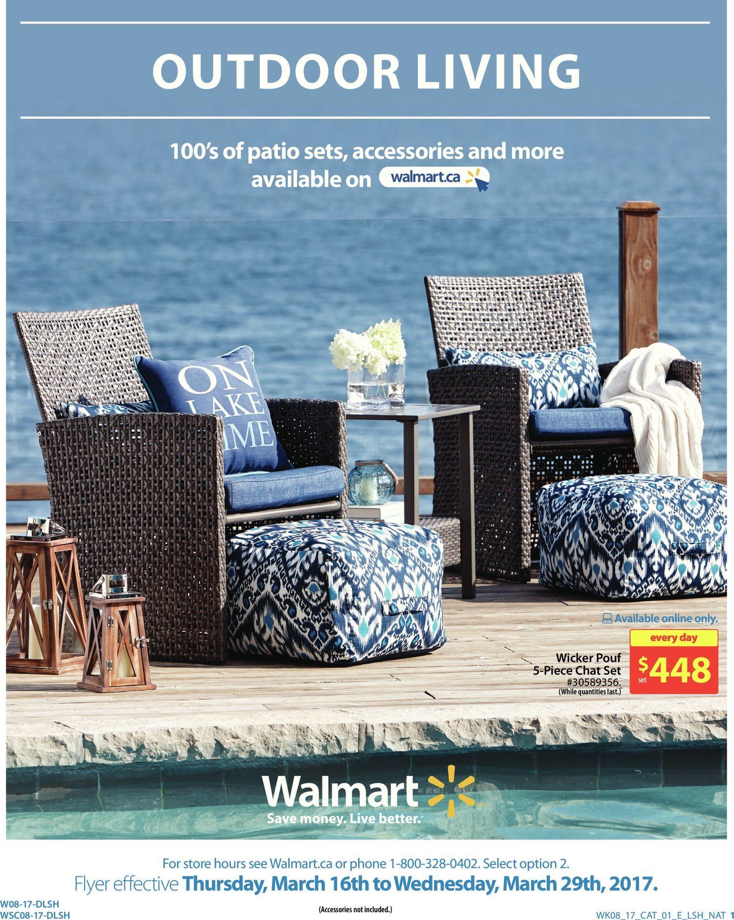 walmart weekly flyer 2 weeks of savings outdoor living mar 16