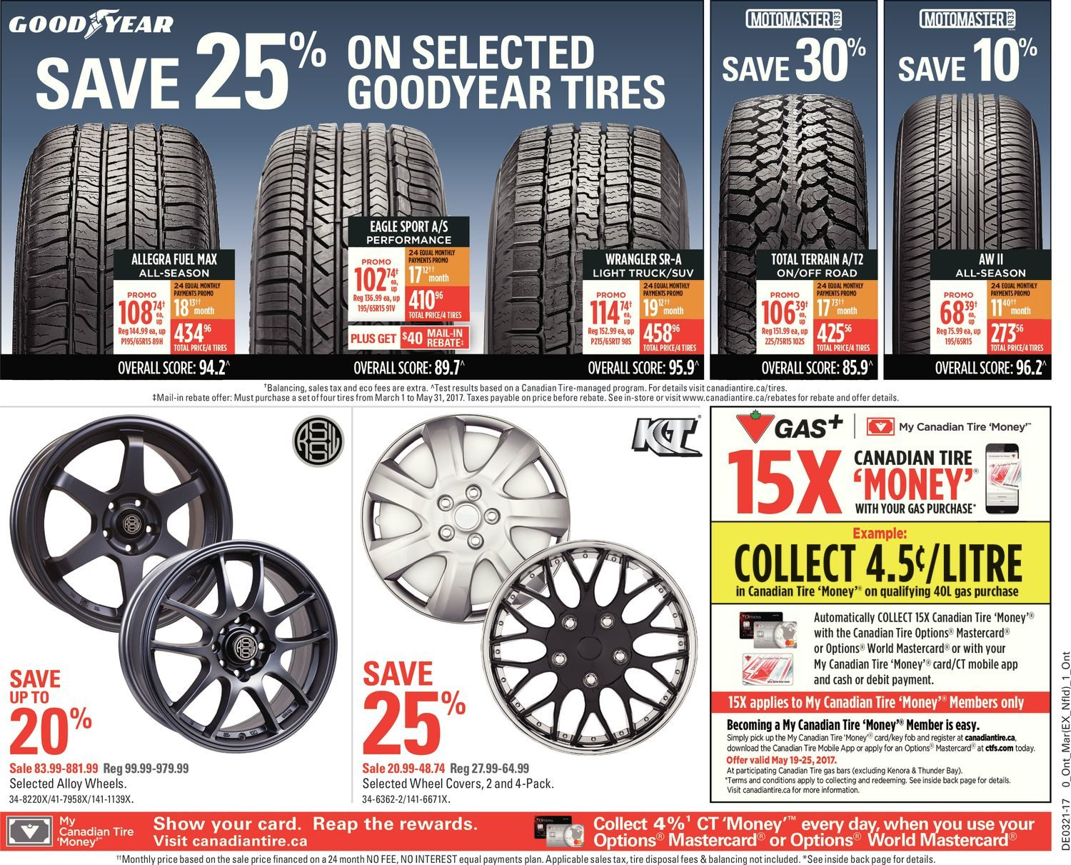 Driving gloves canadian tire - Canadian Tire Weekly Flyer Long Weekend Sale May 19 25 Redflagdeals Com