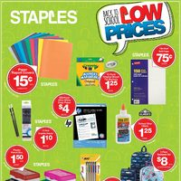 Staples - Weekly - Back to School Low Prices Flyer