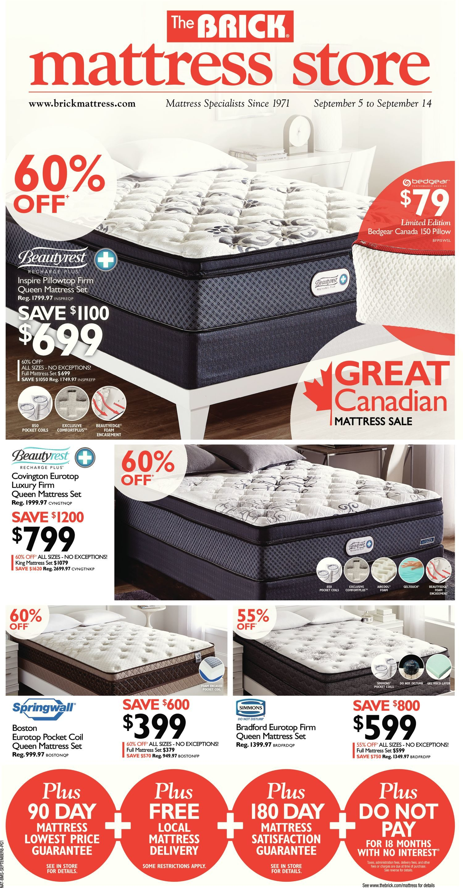 september country sleep canada flyer october coupons flyers mattress page to firm