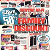 Centre HIFI - Weekly - Get Our Family Employee Discount! Flyer