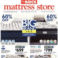 The Brick - Mattress Store - Big Brand Sale Flyer