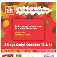 - The Fall Scratch And Save Event Flyer