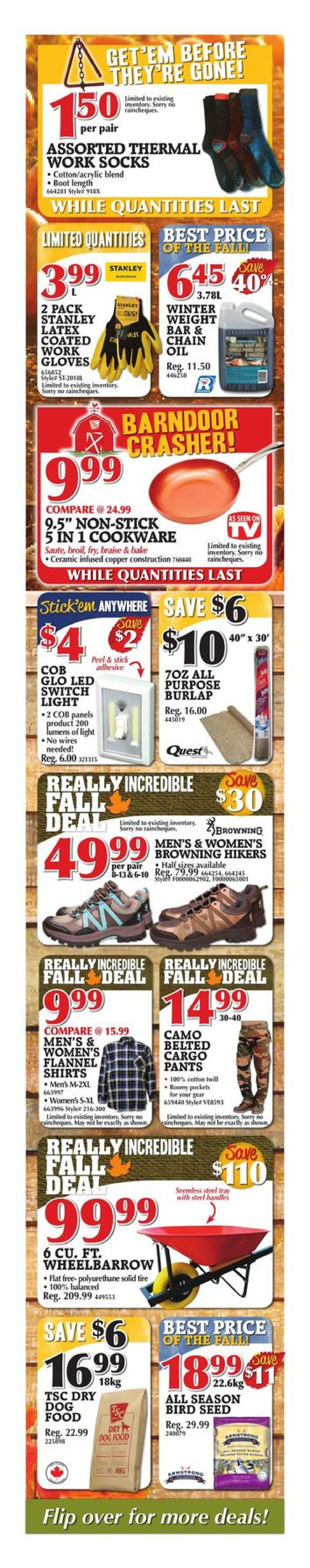4387d9ef9fb3 TSC Stores Weekly Flyer - Weekly - Really Incredible Fall Sale - Oct 13 –  19 - RedFlagDeals.com