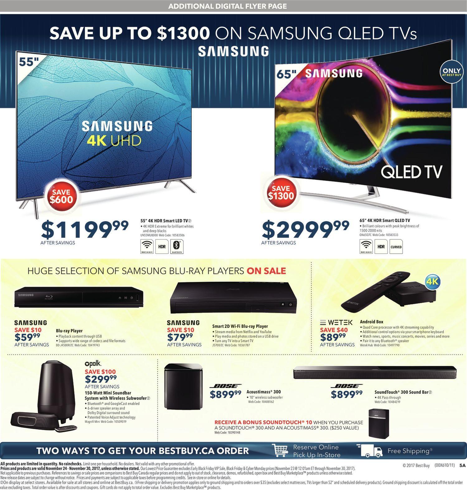 Best Buy Weekly Flyer Weekly Black Friday Sale Nov 24 30  # Sous Tv En Boi