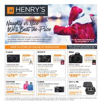 Henry's - Naughty or Nice, We'll Beat The Price Flyer