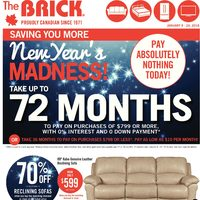 The Brick - New Year's Madness! Flyer
