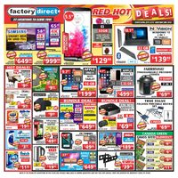 Factory Direct - Weekly - Red Hot Deals! Flyer