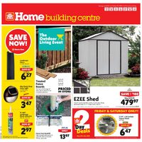 Home Hardware - Building Centre - The Outdoor Living Event Flyer