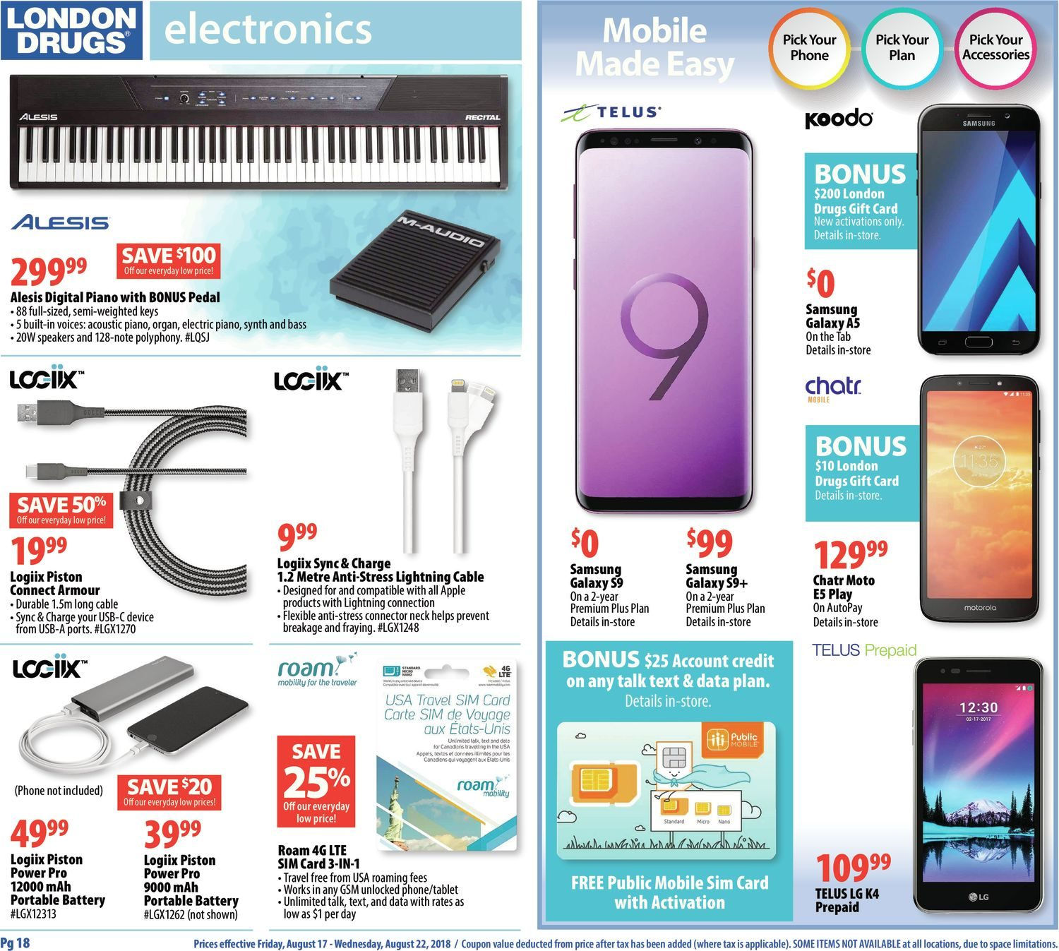 London Drugs Weekly Flyer - 6 Days of Savings - Back To