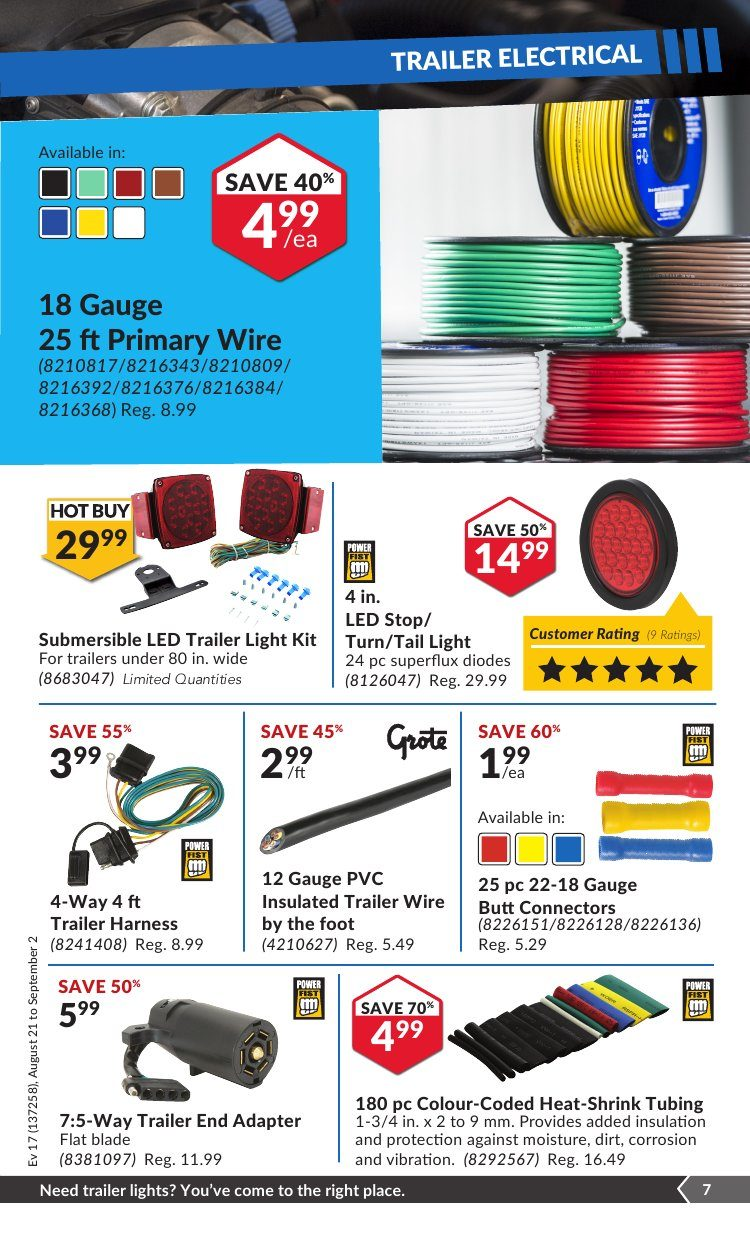 Princess Auto Weekly Flyer Splitacular Deals Aug 21 Sep 2 Trailer Wiring Harness Adapter 7 To 5 Way