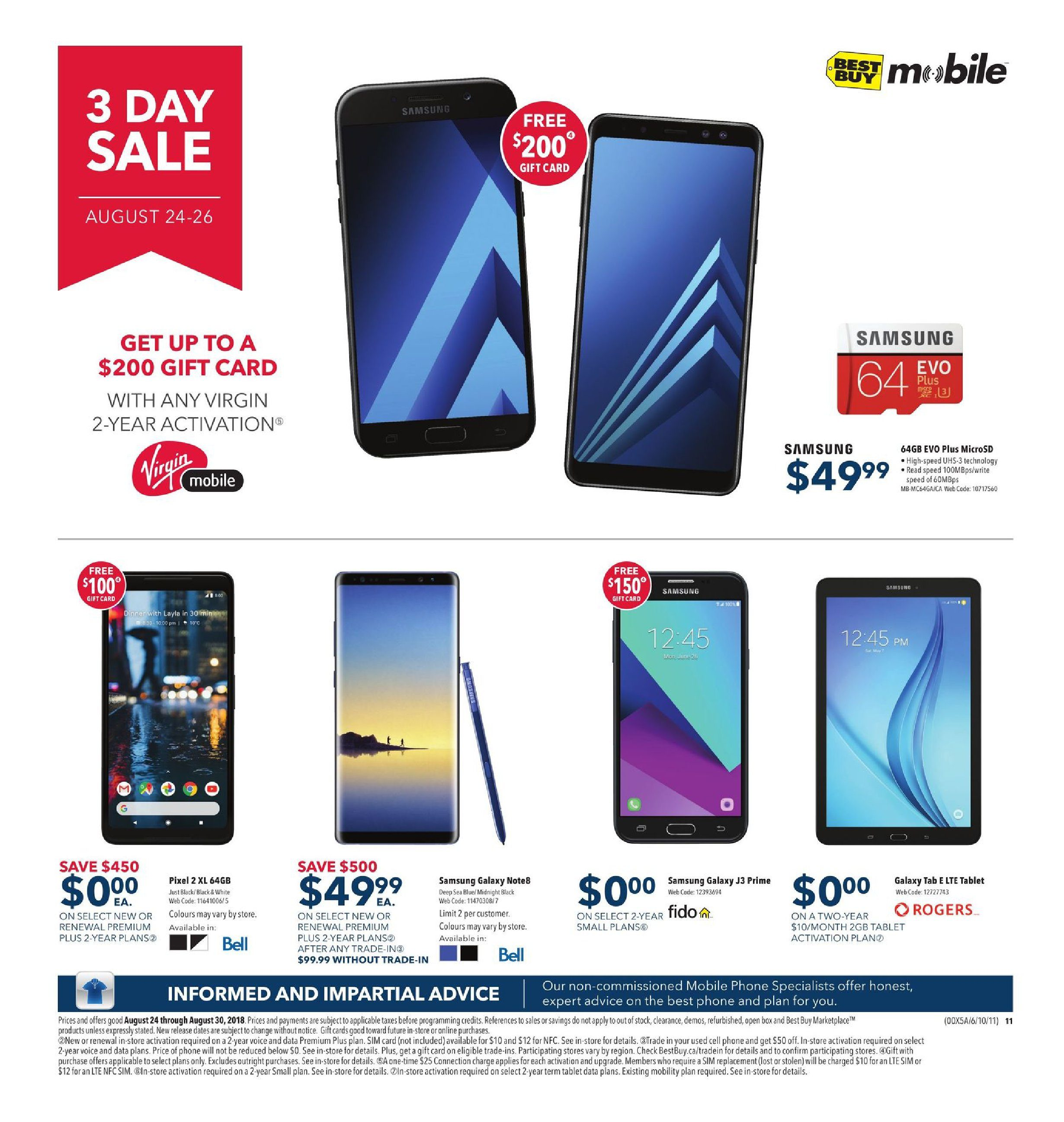 Best Buy Weekly Flyer - Weekly - Back To School Deals - Aug