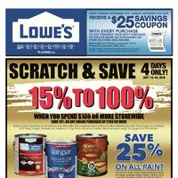 Lowe's - Weekly - Scratch & Save Flyer