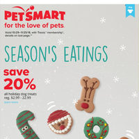 PetSmart - For The Love of Pets - Season's Eating Flyer