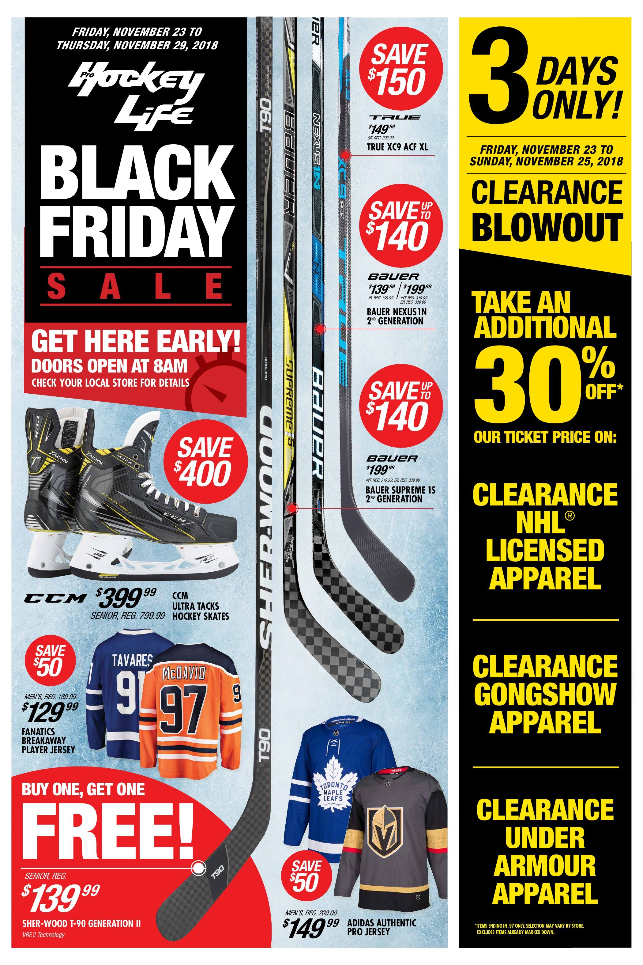 bd7c747f5 Pro Hockey Life Weekly Flyer - Black Friday Sale - Nov 23 – 29 ...