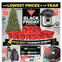 - Black Friday Starts With Red Thursday Flyer