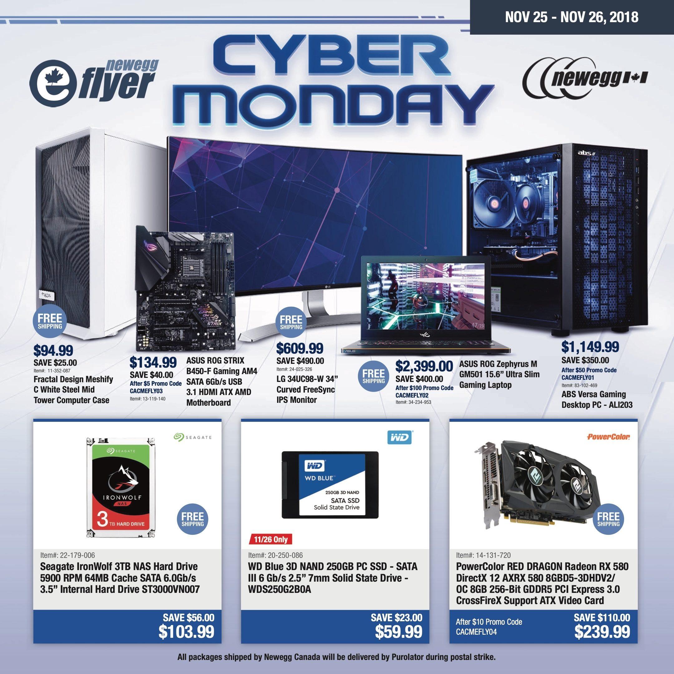 Newegg Weekly Flyer - Cyber Monday - Nov 25 – 26