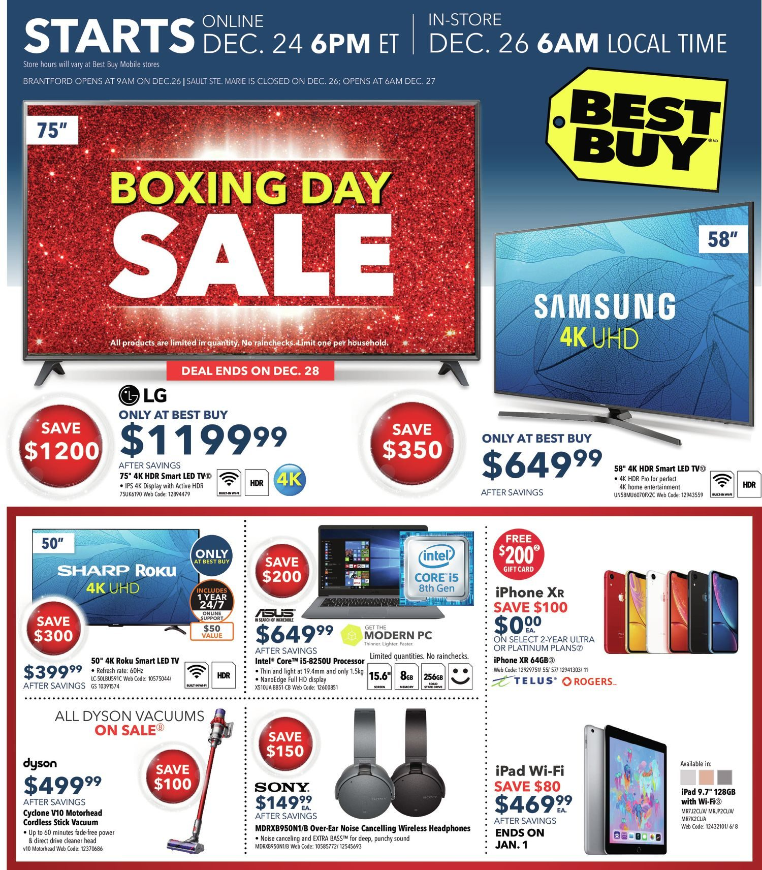 2c9ca5a667d Best Buy Weekly Flyer - Boxing Day Sale - Dec 25 – Jan 3 - RedFlagDeals.com