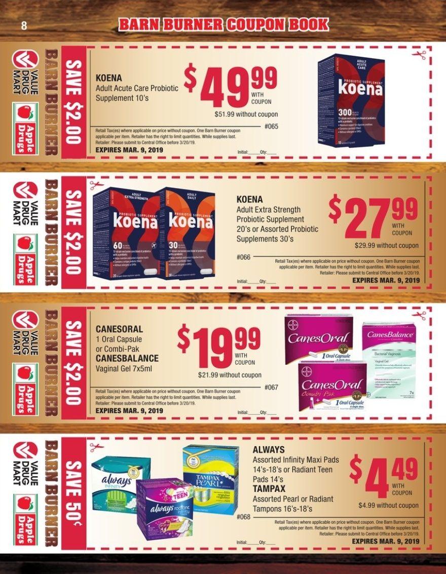Value Drug Mart Weekly Flyer - Barn Burner Coupon Book - Jan