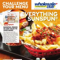 Wholesale Club - Challenge Your Menu - Everything Sunspun Flyer