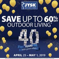 JYSK - Weekly - 40 Years With Great Offers Flyer