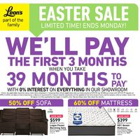 Leon's - Part of The Family - Easter Sale Flyer
