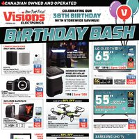 Visions Electronics - Weekly - Birthday Bash Flyer