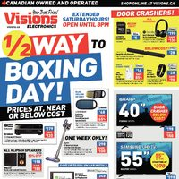 82eca7cc Visions Electronics - Weekly - 1/2 Way to Boxing Day! Flyer