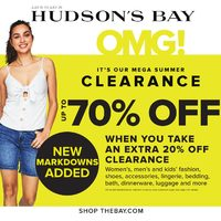 The Bay - Weekly - Mega Summer Clearance Sale Flyer