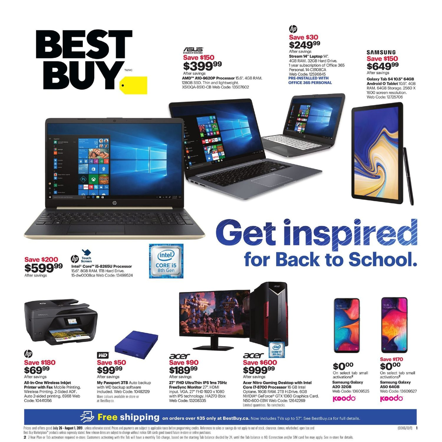 f22b3962934381 Best Buy Weekly Flyer - Weekly - Get Inspired For Back to School - Jul 26 –  Aug 1 - RedFlagDeals.com