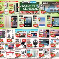 Factory Direct - Weekly - Back To School Blowout! Flyer