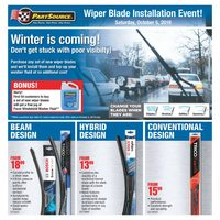 - Wiper Blade Installation Event! Flyer