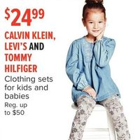 Calvin Klein, Levi's And Tommy Hilfiger Clothing Sets For Kids And Babies