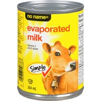 No Name Evaporated Milk