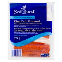 Seaquest Crab or Lobster Flavoured Pollock Flakes or Chunks Ready to Eat or Smoked Steelhead Salmon