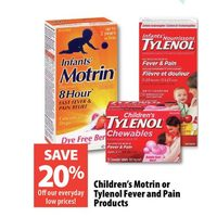 Children's Motrin Or Tylenol Fever And Pain Products