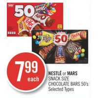 Nestle Or Mars Snack Size Chocolate Bars