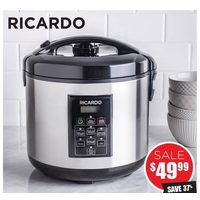 Ricardo Rice Cooker and Steamer