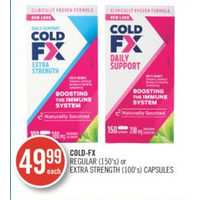 Cold-Fx Regular Or Extra Strength Capsules