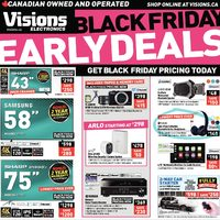 Visions Electronics - Weekly - Black Friday Early Deals Flyer