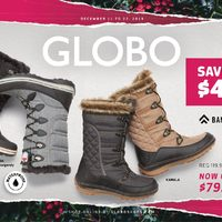 Globo Shoes - Pre-Boxing Day Savings Flyer