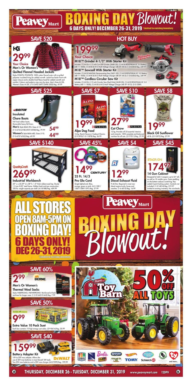 Peaveymart Weekly Flyer Boxing Day Blowout Dec 26 31 Redflagdeals Com