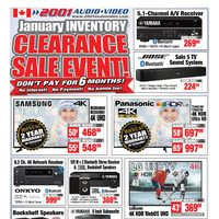 2001 Audio Video - Weekly - January Inventory Clearance Sale Event! Flyer