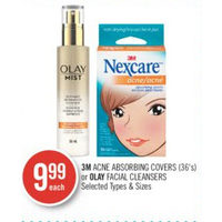3M Acne Absorbing Covers Or Olay Facial Cleansers