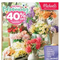 Michaels - Weekly - Now Blooming Flyer