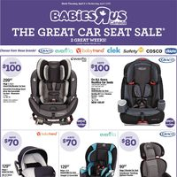 Babies R Us - 2 Great Weeks! - The Great Car Seat Sale & The Easter Event Flyer