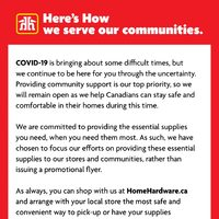 Home Hardware - Notice Flyer