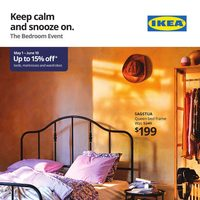 IKEA - The Bedroom Event - Keep Calm & Snooze On Flyer